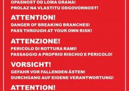 Ploča upozorenje u Trstenom