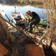 rušenje ilegalno postavljenih objekata u rezervatu