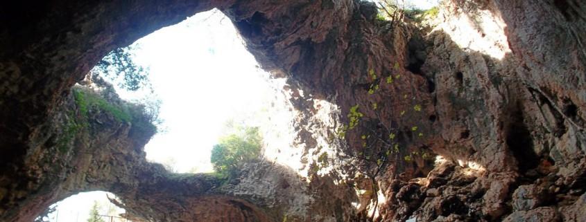 Pogled iz unutrašnjosti Vela Spile
