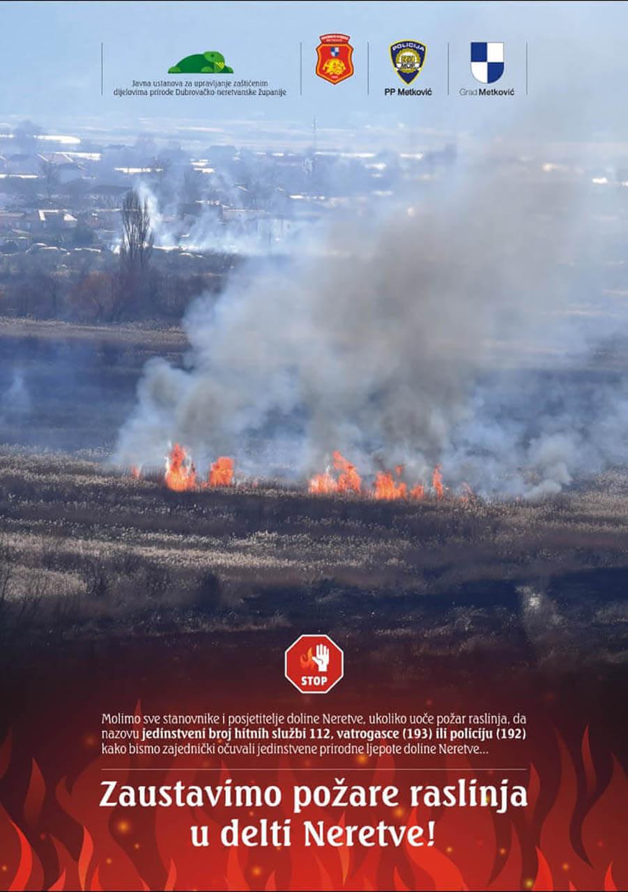 Zaustavimo požare raslinja u delti Neretve